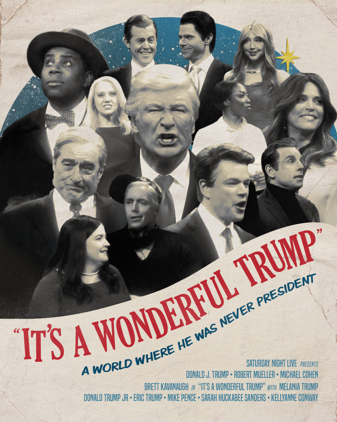 Parody movie poster of 'Its a Wonderful Trump'